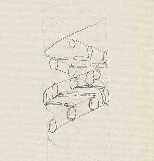 Pencil sketch of the DNA double helix by Francis Crick, Wellcome Images. Wikimedia Commons, https://commons.wikimedia.org/wiki/File:Pencil_sketch_of_the_DNA_double_helix_by_Francis_Crick_Wellcome_L0051225.jpg